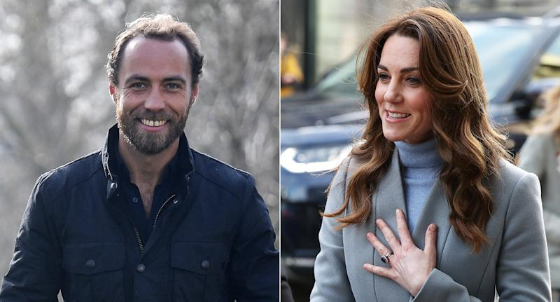 James Middleton, 32, and his sister the Duchess of Cambridge. 38. (PA Images)