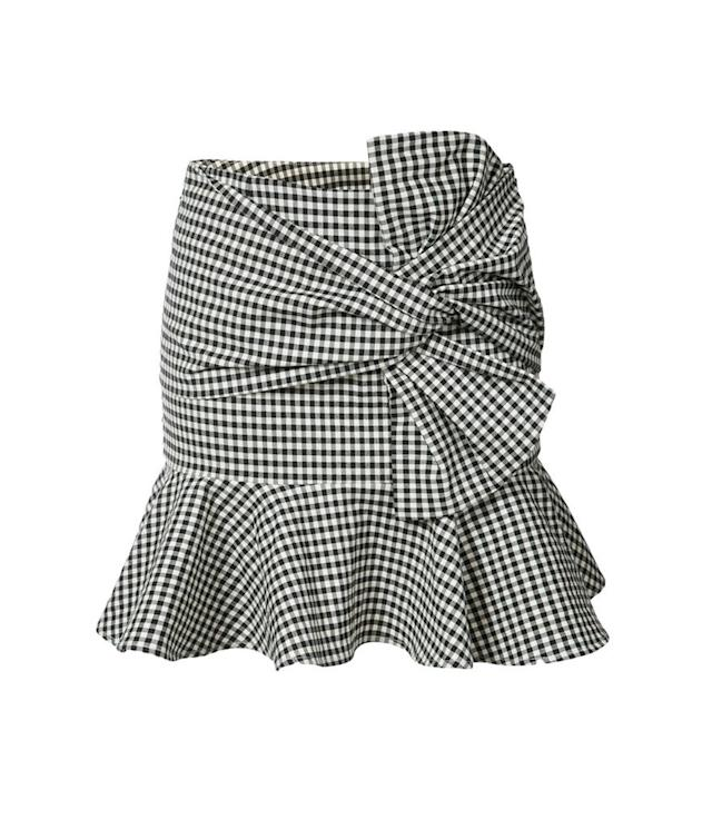 "<p>Gingham ruffle mini-skirt, $395,<a href=""https://www.farfetch.com/shopping/women/veronica-beard-gingham-ruffle-miniskirt-item-12066905.aspx?fsb=1&storeid=9531&size=18&utm_source=polyvore.com&utm_medium=affiliate&utm_campaign=RNPUS_desktop"" rel=""nofollow noopener"" target=""_blank"" data-ylk=""slk:farfetch.com"" class=""link rapid-noclick-resp""> farfetch.com</a> </p>"
