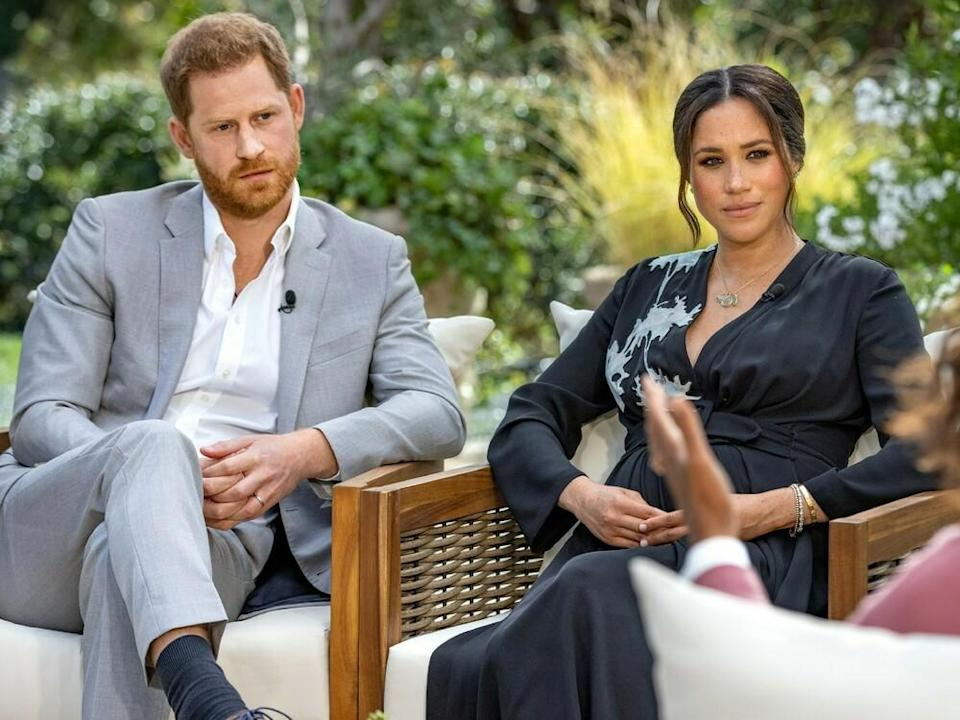 Harry und Meghan im Interview mit Oprah Winfrey. (Bild: TVNOW / Harpo Productions - Joe Pugliese)