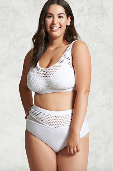 Forever 21 just released its new plus-sized swimwear collection and it's on trend, affordable, and totally chic.