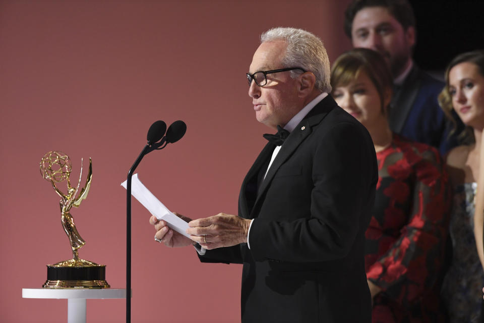 Lorne Michaels accepts the award for outstanding variety sketch series for