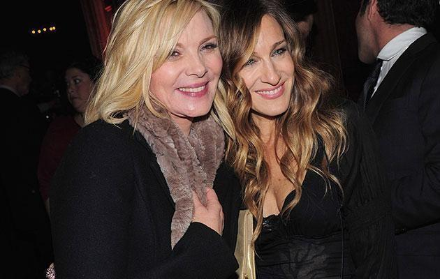 They might seem friendly here but it seems Kim and SJP are at war with one another. Source: Getty