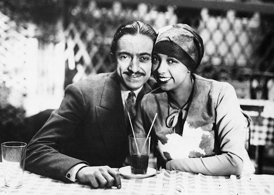 <p>Pictured here with her new husband Count Pepito Abatino, Baker was at this time living and dancing in Paris, where she moved after her success in New York City. </p>