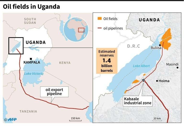 Map showing oil fields and pipelines in Uganda (AFP Photo/)