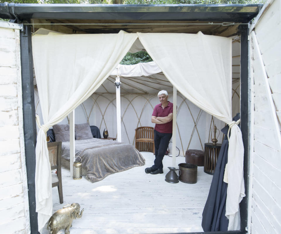 <p>BUDGET: The Yurt Locker – owned by Paul Martin in Suffolk (Picture: Shed of the Year) </p>