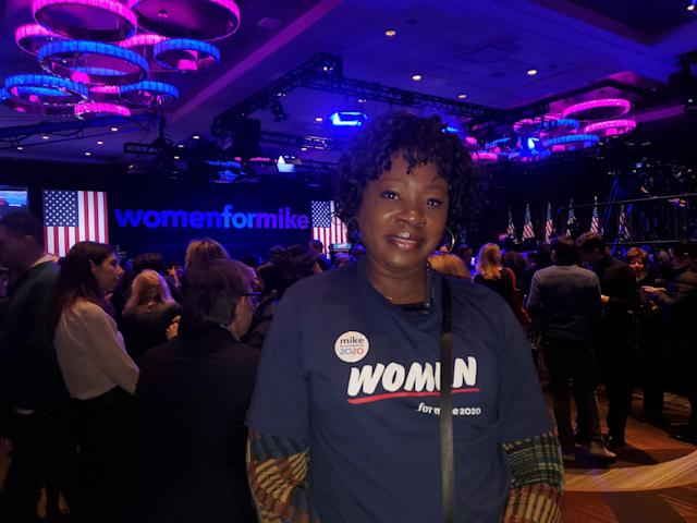 Bloomberg supporter Tanya Ross-Ellis. (Photo: Kadia Tubman/Yahoo News)