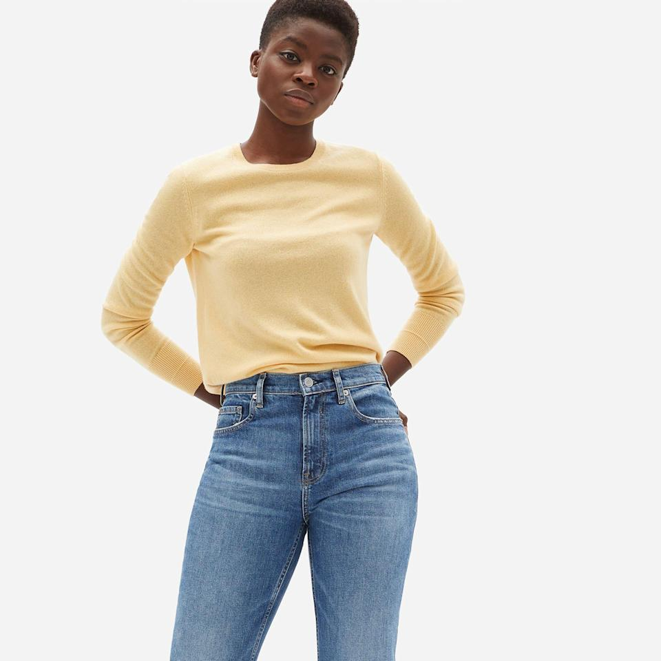 """<br><br><strong>Everlane</strong> The Cashmere Crew, $, available at <a href=""""https://go.skimresources.com/?id=30283X879131&url=https%3A%2F%2Fwww.everlane.com%2Fproducts%2Fwomens-cashmere-crew-buttercream%3Fcollection%3Dwomens-premium-cashmere"""" rel=""""nofollow noopener"""" target=""""_blank"""" data-ylk=""""slk:Everlane"""" class=""""link rapid-noclick-resp"""">Everlane</a>"""