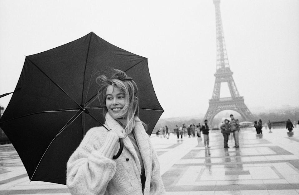 <p>Early days in Paris – I had just bought myself this oversized Ralph Lauren aran-knit cardigan, which is when my love of knitwear started.</p>