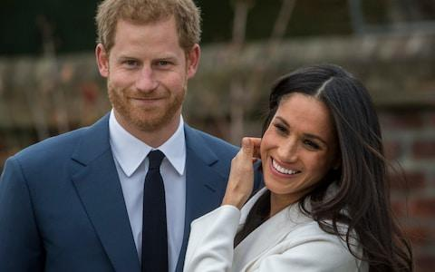 Not long to go... Prince Harry and Meghan Markle on the day they announced their engagement - Credit: Paul Grover for the Telegraph