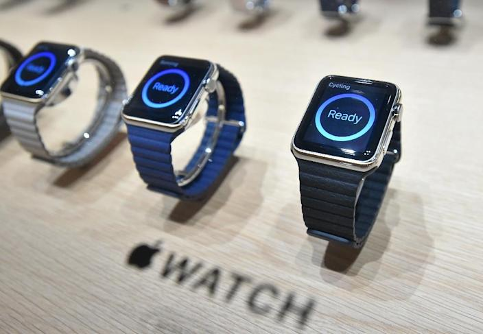 IDC said it expected some 45.7 million wearable tech gadgets to be shipped globally this year, up 133 percent from 2014 (AFP Photo/Josh Edelson)