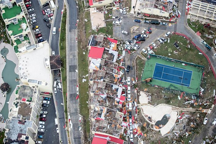 View of the aftermath of Hurricane Irma on the Dutch side of St. Martinon Sept. 6, 2016. (Photo: Reuters)