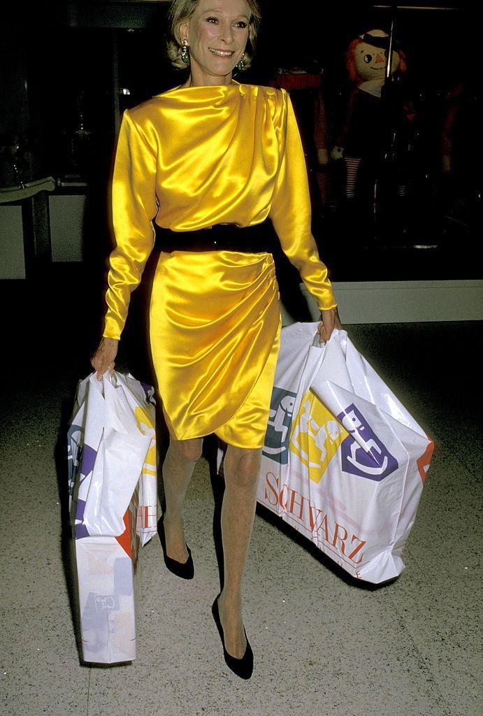 <p>The fashionista during a FAO Schwarz shopping party in aid of Cancer Research.</p>