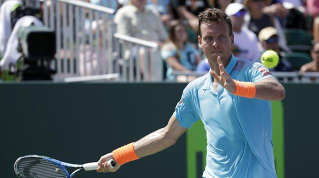 MONTE CARLO, Monaco (AP) Tomas Berdych needed two hours and three sets to overcome strong resistance from Russian qualifier Andrey Kuznetsov and reach the second round of the Monte Carlo Masters on Monday.