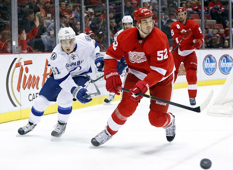 Detroit's Ericsson out with broken ribs