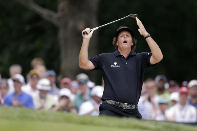 Phil Mickelson finished second at Merion, his sixth U.S. Open runner-up finish. (AP)