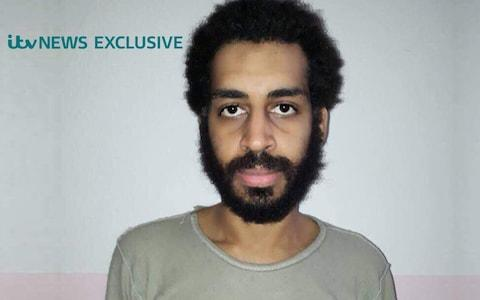 """Alexanda Kotey, one of two Britons suspected of having been part of the Islamic State extremist group dubbed """"The Beatles"""" who were captured by Kurdish militia fighters in January. - Credit: ITV"""