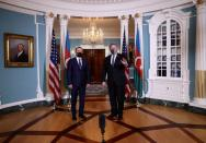 U.S. Secretary of State Pompeo meets with Azerbaijan's Foreign Minister Jeyhun Bayramov at the State Department in Washington