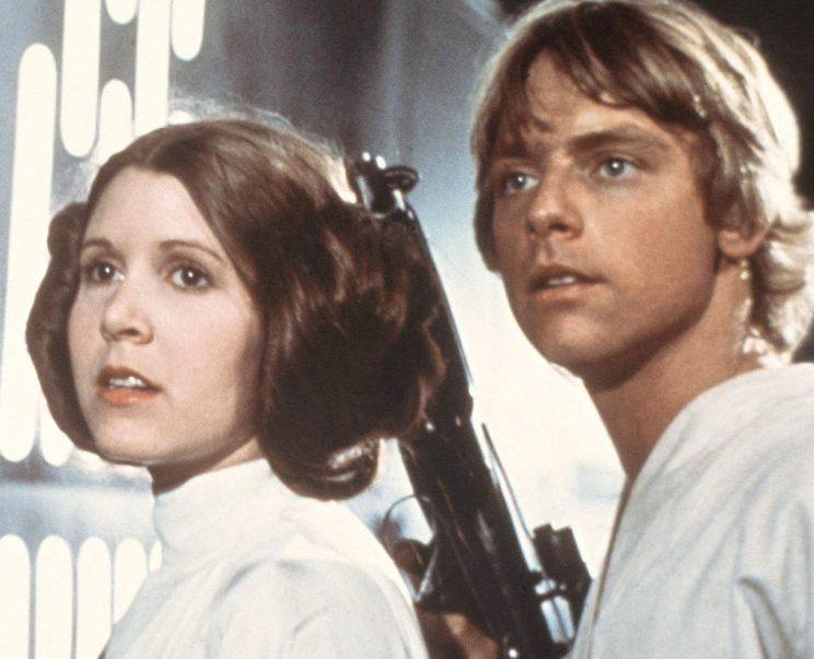 Carrie Fisher and Mark Hamill in Star Wars: A New Hope