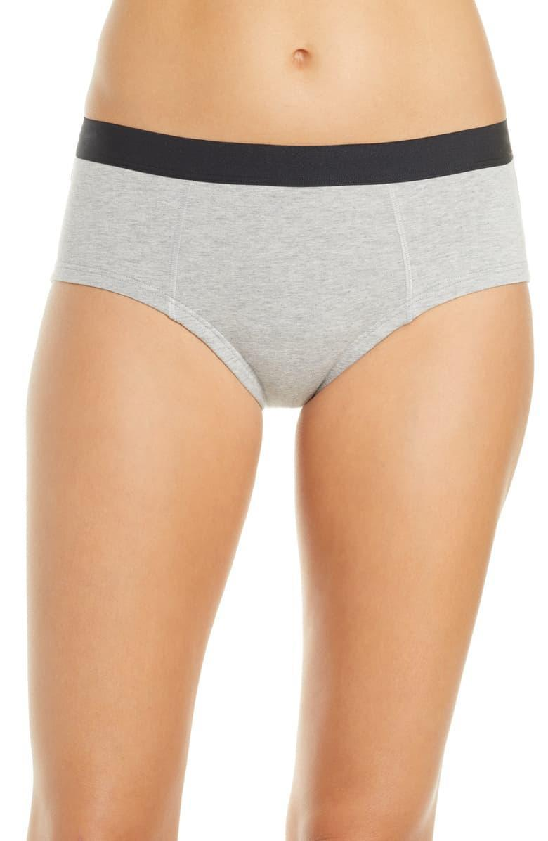 """<h3>Thinx Period Proof Cotton Briefs</h3><br><br><strong>The Best Cotton Undies (Period)<br></strong><br>Many women swear by Thinx's menstrual-friendly underwear. Lucky for you, cotton-seeker, the brand offers a 95% cotton panty that will help with absorption when Aunt Flo comes to visit. <br><br><strong>The Hype:</strong> 4.5 out of 5 stars; 42 reviews on <a href=""""https://www.nordstrom.com/s/thinx-period-proof-cotton-briefs/5476592"""" rel=""""nofollow noopener"""" target=""""_blank"""" data-ylk=""""slk:Nordstrom.com"""" class=""""link rapid-noclick-resp"""">Nordstrom.com</a><br><br><strong>What They Are Saying: </strong>""""When I heard about Thinx undies I was intrigued. The brief style does not give you wedgies and offers whole coverage. The feel is pretty comparable to a regular undie. It does not feel bulky or uncomfortable. I personally wanted them for night time use only but you could totally wear them during the day and feel comfy and protected without any leaks. Just keep in mind that you will probably have to change after a period of time if you plan to use them the whole day. The briefs did a good job containing the fluid. I did not experience any leakage or odor or discomfort. There was no wetness feeling or irritation after use. The washing part might sound gross but it really isn't too big of a deal. The company does a great job instructing you how to wash. Overall I was satisfied with the functionality, value and feel of this product and will consider get more in the future."""" — Leidy, Nordstrom.com reviewer<br><br><br><strong>THINX</strong> Period Proof Cotton Briefs, $, available at <a href=""""https://go.skimresources.com/?id=30283X879131&url=https%3A%2F%2Fwww.nordstrom.com%2Fs%2Fthinx-period-proof-cotton-briefs%2F5476592"""" rel=""""nofollow noopener"""" target=""""_blank"""" data-ylk=""""slk:Nordstrom"""" class=""""link rapid-noclick-resp"""">Nordstrom</a>"""
