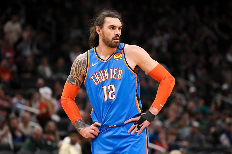 Steven Adams made his name as an old-school center for the Oklahoma City Thunder. (Dylan Buell/Getty Images)