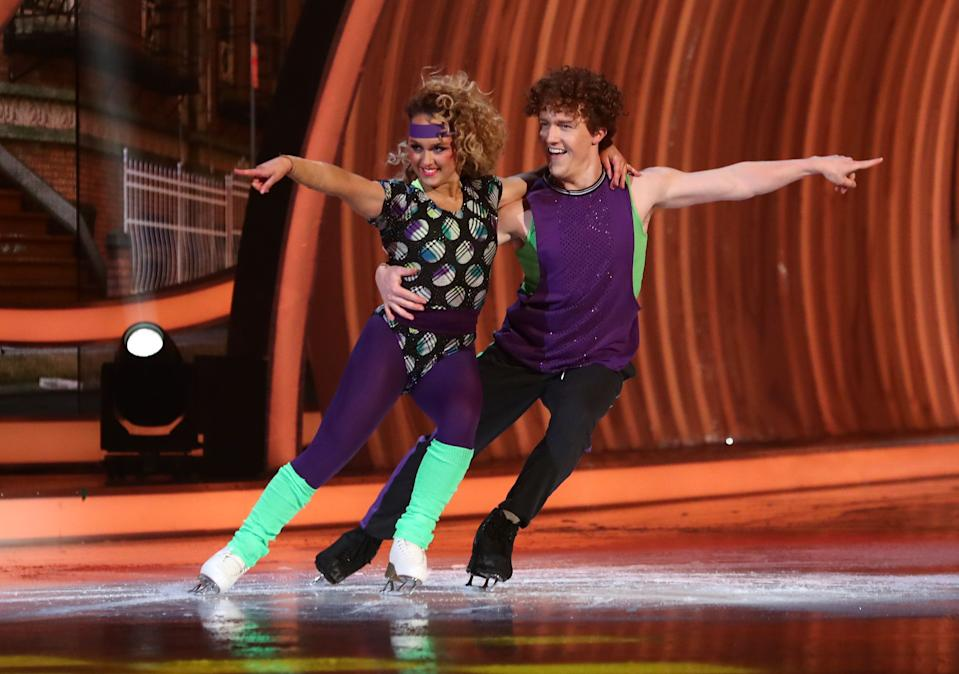 Editorial use only  Mandatory Credit: Photo by Matt Frost/ITV/Shutterstock (11736470bu)  Amy Tinkler and Joe Johnson  'Dancing On Ice' TV show, Series 13, Episode 3, Hertfordshire, UK - 31 Jan 2021