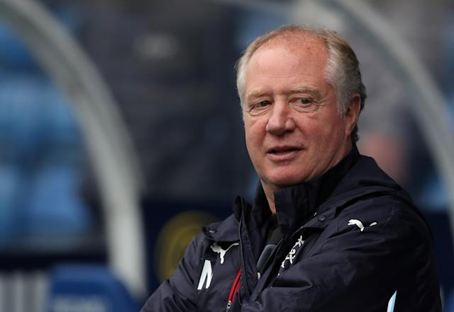 Soccer Football - Scottish Premiership - Rangers vs Kilmarnock - Ibrox, Glasgow, Britain - May 5, 2018 Rangers co-caretaker manager Jimmy Nicholl before the match REUTERS/Scott Heppell