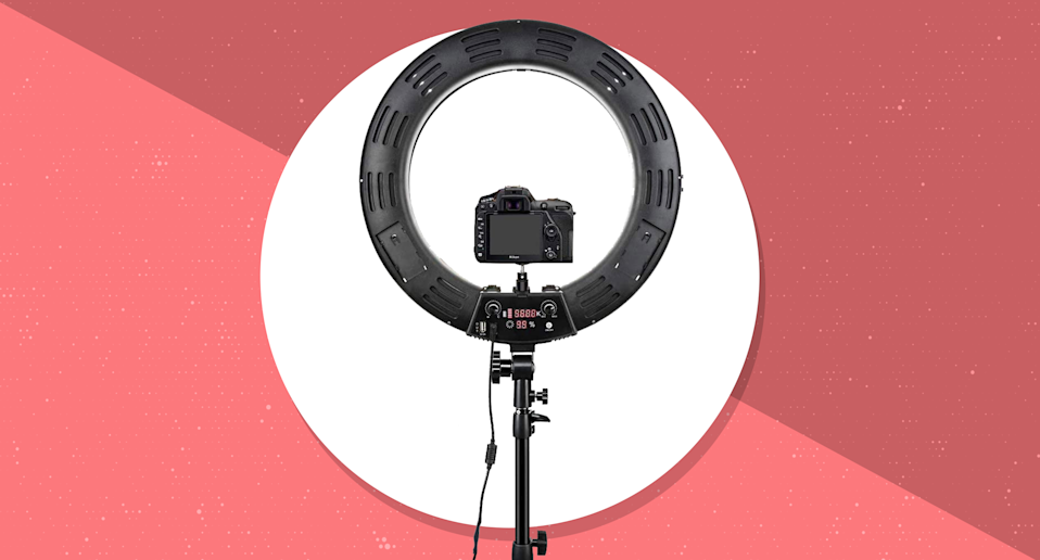 Get this 18-inch Inkeltech Ring Light for $91, today only. (Photo: Amazon)