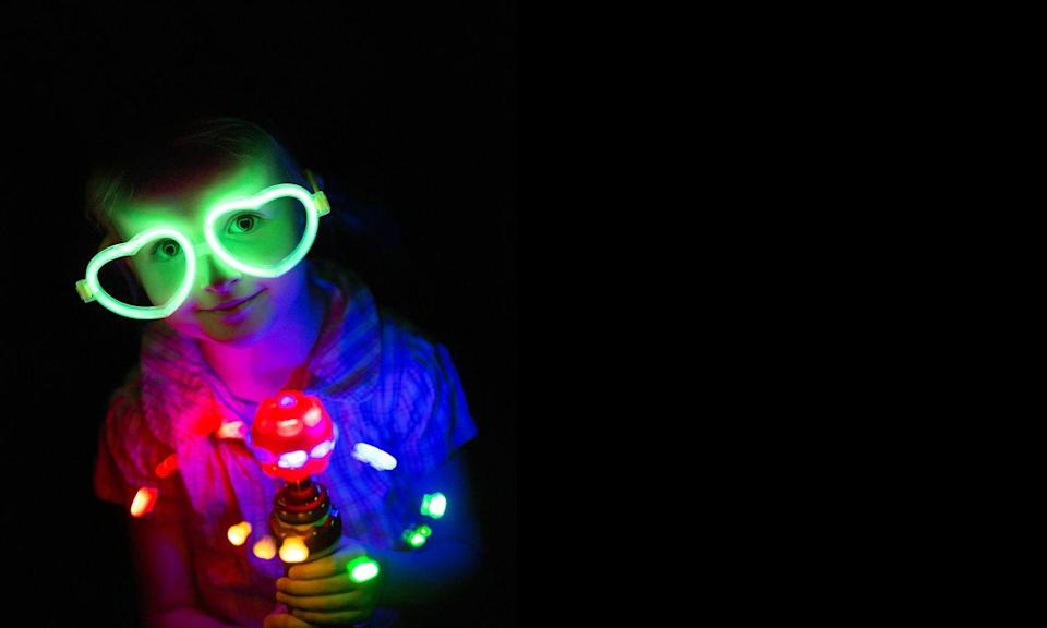 """<p>Want to see your little one's face light up in more ways than one? Host a glow party this Halloween! Just add glow-in-the-dark details anywhere you can (cups, pumpkins, straws) then turn off the lights and await the smiles. </p><p><a class=""""link rapid-noclick-resp"""" href=""""https://www.amazon.com/POKONBOY-Balloons-Supplies-Birthday-Festival/dp/B07PB6KHYC/?tag=syn-yahoo-20&ascsubtag=%5Bartid%7C10072.g.28787574%5Bsrc%7Cyahoo-us"""" rel=""""nofollow noopener"""" target=""""_blank"""" data-ylk=""""slk:SHOP GLOW-IN-THE-DARK BALLOONS"""">SHOP GLOW-IN-THE-DARK BALLOONS</a></p>"""