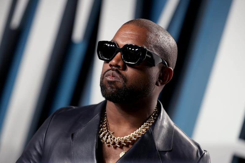 BEVERLY HILLS, CALIFORNIA - FEBRUARY 09: Kanye West attends the 2020 Vanity Fair Oscar Party hosted by Radhika Jones at Wallis Annenberg Center for the Performing Arts on February 09, 2020 in Beverly Hills, California. (Photo by Rich Fury/VF20/Getty Images for Vanity Fair)