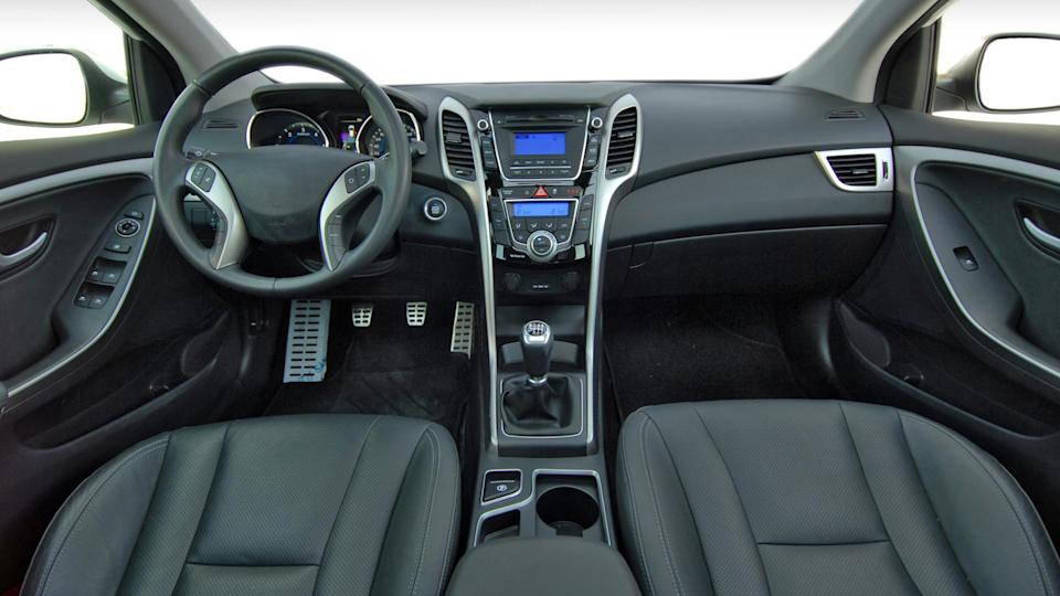 Interior of a modern car.