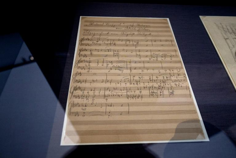 A manuscript sheet of an opera by Adolf Hitler goes on display in Austria for the first time