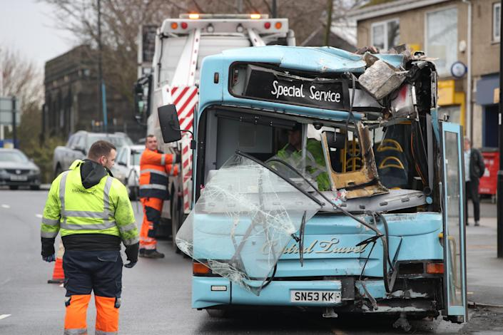 The collision on Wednesday morning caused major delays in the area. (PA)