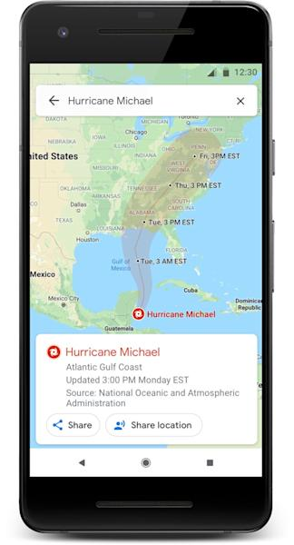 Google is adding tools inside Google Map and search to help you deal with hurricanes, floods and earthquakes.