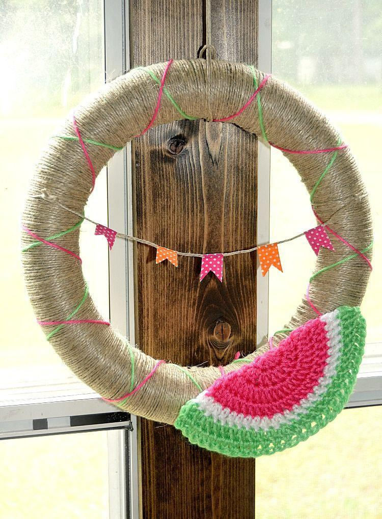 "<p>You're definitely going to want to get out the hook for this festive project, which includes a crochet watermelon slice so cute it'll make every guest that comes to your door grin.</p><p><strong>Get the tutorial at <a href=""http://blog.darice.com/home-decor/wreaths/crochet-watermelon-pattern-wreath/"" rel=""nofollow noopener"" target=""_blank"" data-ylk=""slk:Darice"" class=""link rapid-noclick-resp"">Darice</a>.</strong></p><p><a class=""link rapid-noclick-resp"" href=""https://www.amazon.com/crochet-hooks/b?ie=UTF8&node=262612011&tag=syn-yahoo-20&ascsubtag=%5Bartid%7C10050.g.4395%5Bsrc%7Cyahoo-us"" rel=""nofollow noopener"" target=""_blank"" data-ylk=""slk:SHOP CROCHET HOOKS"">SHOP CROCHET HOOKS</a><br></p>"