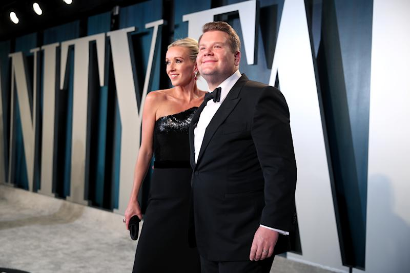 BEVERLY HILLS, CALIFORNIA - FEBRUARY 09: (L-R) Julia Carey and James Corden attend the 2020 Vanity Fair Oscar Party hosted by Radhika Jones at Wallis Annenberg Center for the Performing Arts on February 09, 2020 in Beverly Hills, California. (Photo by Rich Fury/VF20/Getty Images for Vanity Fair)