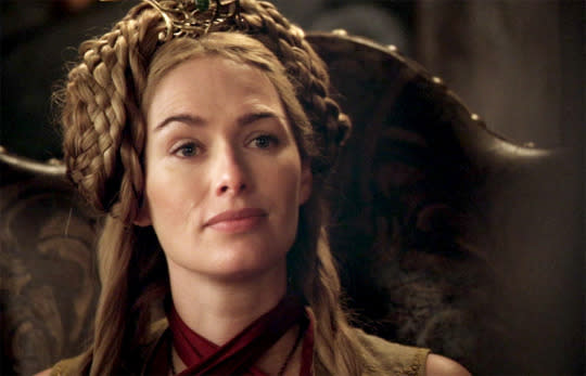 "<p>Sansa is frowning because in her very first meeting with Cersei Lannister, the Queen straight-up asked Sansa if she'd had her period yet. The social etiquette of Westeros was clearly going to be a real bummer for everyone. (Season 1, Episode 1: ""Winter Is Coming"")</p><p><i>(Credit: HBO)</i></p>"