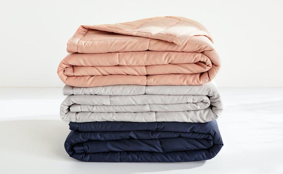 """<p>""""I've been thinking about investing in a weighted blanket for awhile now to help me sleep. The <span>Casper Weighted Blanket to Calm Anxiety</span> ($169-$189) has a cozy and huggable design, plus it promotes air flow and is a cooling choice. I'm sold."""" - NC</p>"""