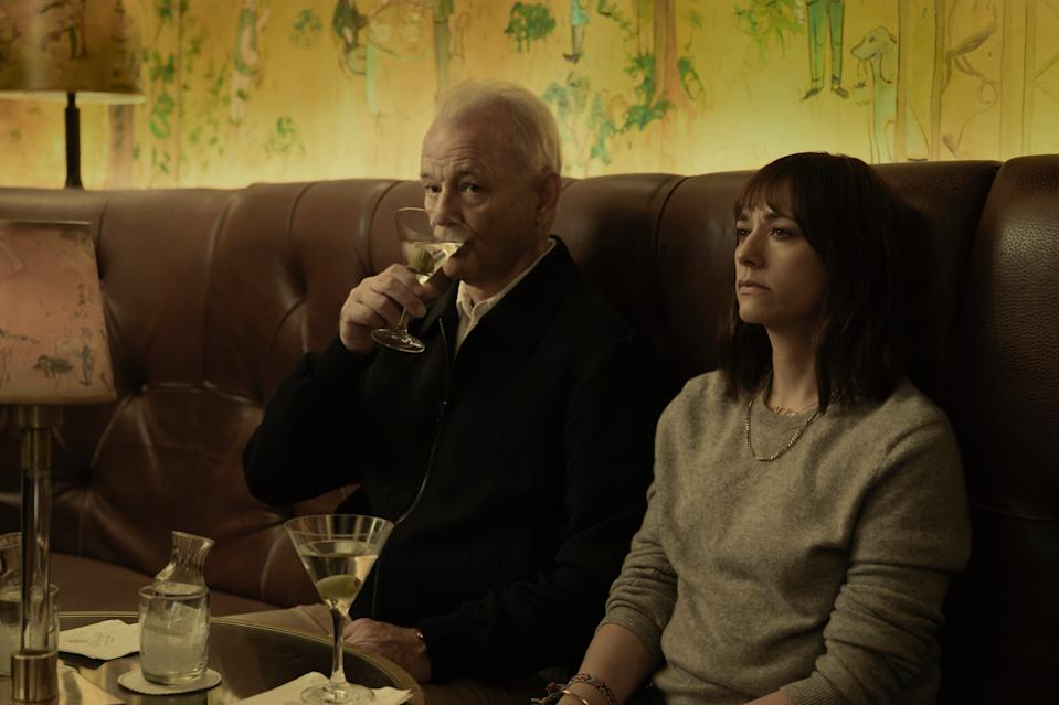 "Bill Murray and Rashida Jones in ""On The Rocks,"" premiering October 23 on Apple TV+."