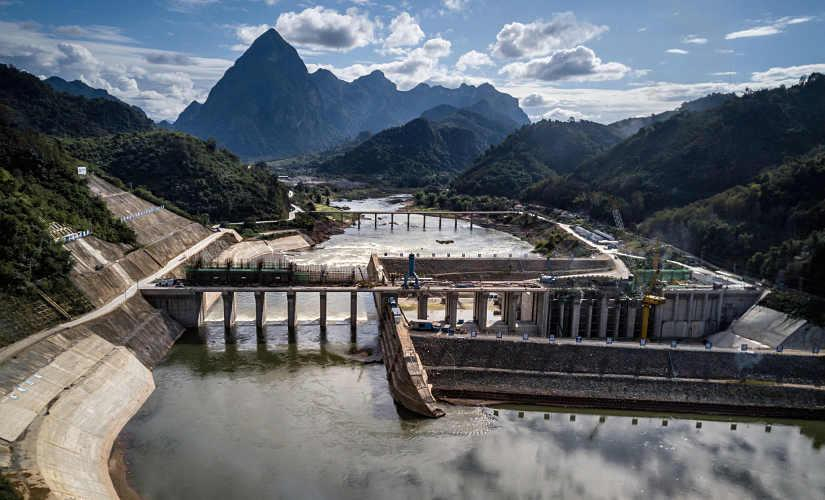 The Nam Ou 1 Dam on the Mekong River in Luang Prabang Province, in northern Laos, under construction in December 2018. It was built by China's largest hydropower company. By Sergey Ponomarev © 2020 The New York Times