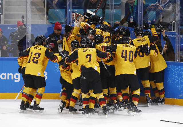 Not many outside of Germany are excited about a gold medal game minus NHL players. (AP)