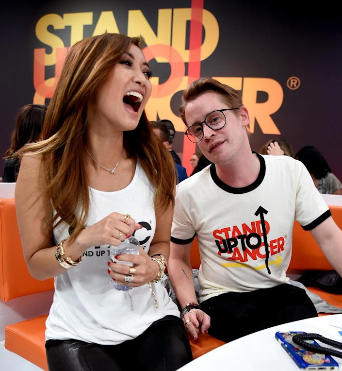 Brenda Song and Macaulay Culkin attend the sixth biennial Stand Up To Cancer (SU2C) telecast on Sept. 7, 2018 in Santa Monica, Calif. (Kevin Mazur / Getty Images for Stand Up To Cancer file)