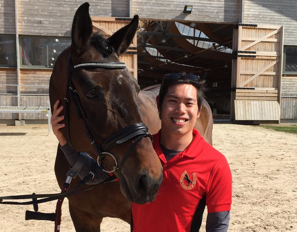 Singapore para-equestrienne Maximillian Tan, who will be taking part at the Tokyo Paralympics. (PHOTO: Singapore Disability Sports Council)