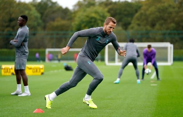 Harry Kane is hoping to be back in group training soon (Tess Derry/PA)