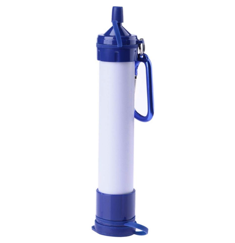 YYED 800L/185 Gallon Portable Blue Purifier Straw Water Filter