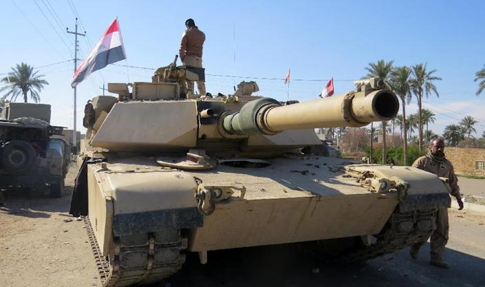 Iraq has deployed reinforcements to a military base in Anbar for an impending operation against the Islamic State (AFP Photo/Moadh al-Dulaimi)
