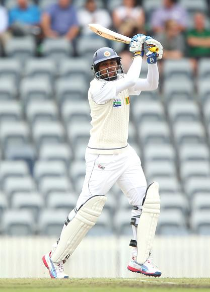Tillakaratne Dilshan of Sri Lanka bats during day two of the international tour match between the Chairman's XI and Sri Lanka at Manuka Oval on December 7, 2012 in Canberra, Australia.  (Photo by Brendon Thorne/Getty Images)