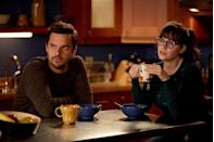 """<p>Very few TV characters, besides Kimmy Schmidt, can maintain an upbeat attitude when life is falling apart around them, but <em>New Girl</em>'s Jess Day (Zooey Deschanel) is one exception. After her boyfriend breaks up with her, the quirky and slightly offbeat Jess moves into an apartment with three single guys. Jess quickly forms a bond with the witty Nick, people-pleaser Schmidt, and hilarious Winston, despite their noticeable differences. It's the perfect diversion from your own relationship problems. </p><p><a class=""""link rapid-noclick-resp"""" href=""""https://www.amazon.com/Pilot/dp/B005JR4K28/?tag=syn-yahoo-20&ascsubtag=%5Bartid%7C10063.g.37608731%5Bsrc%7Cyahoo-us"""" rel=""""nofollow noopener"""" target=""""_blank"""" data-ylk=""""slk:Watch Now"""">Watch Now</a></p>"""