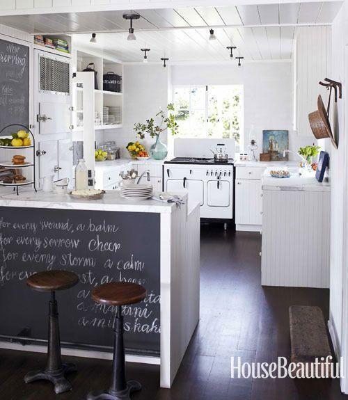 "<p>A <a href=""https://www.housebeautiful.com/design-inspiration/house-tours/g1262/beach-house-decor-ideas-0712/"" rel=""nofollow noopener"" target=""_blank"" data-ylk=""slk:chalkboard wall"" class=""link rapid-noclick-resp"">chalkboard wall</a>, like in this kitchen by Erin Martin and Kim Dempster, is the most fun way to show off your weekend brunch menu. (Plus, now you don't have to worry about your kids drawing on the walls).</p>"