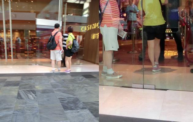 Shorts, socks, and sports shoes were spotted on patrons (Yahoo! Photos)