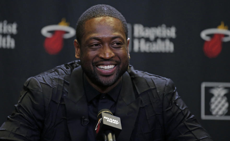 Dwyane Wade revealed a bright new hair color on his social media pages. (Photo: David Santiago/Miami Herald/Tribune News Service via Getty Images)
